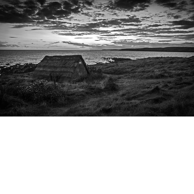 Seaweed Hut At Freshwater West by Audrey Weekes