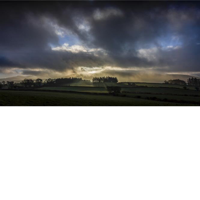 Break Of Day Over The Brecons by Caroline Miles
