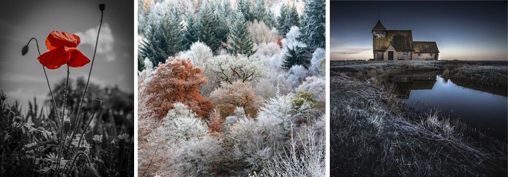 In Remembrance by Shaun Hodsdon&#59; A Scottish Autumn Morning by Babs Wagstaff&#59; Cold Morning At Fairfield Church by Vince Winter