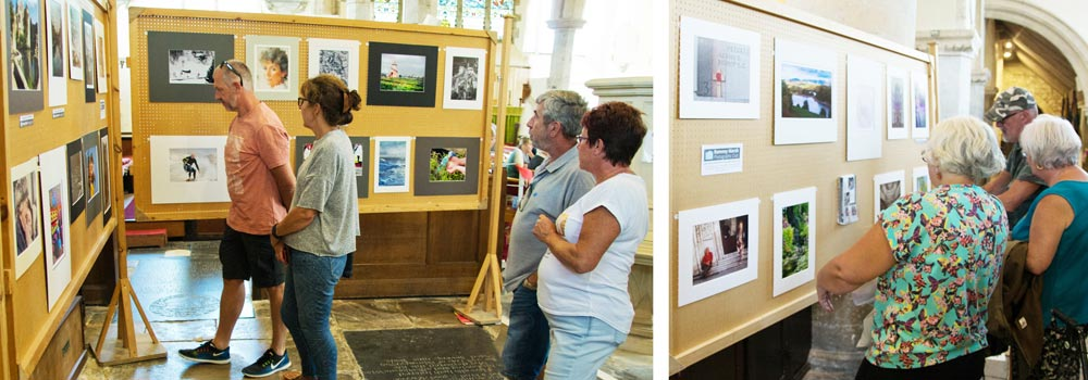 The exhibition in St Nicolas' church