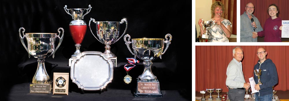 A few of our trophies and Prize Giving Evening